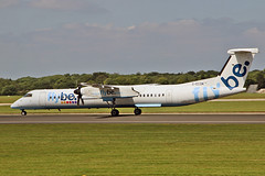 G-ECOM DHC-8Q 402 Flybe MAN 23-07-19 (PlanecrazyUK) Tags: egcc manchester ringway manchesterairport gecom dhc8q402 flybe man 230719