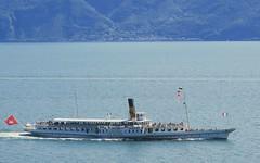 Happy B-Day CH (Riex) Tags: lasuisse cgn vapeur bateau boat paddleboat steamer steamboat bateauavapeur rouesaaubes lac lake leman vaud suisse switzerland g9x meillerie france