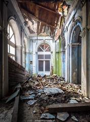 Decayed Spa Resort (trip_mode) Tags: abandoned sanatorium decay urbex exploration exploring urban trespassing trip light window spa resort baths collapse