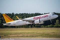 Pegasus Airlines TC-NBE (TO) (U. Heinze) Tags: aircraft airlines airways airplane flugzeug planespotting plane nikon d610 nikon28300mm haj hannoverlangenhagenairporthaj eddv