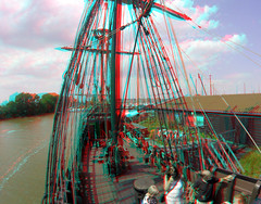 De Halve Maen VOC-Replica 3D (wim hoppenbrouwers) Tags: 3d stereo anaglyph gopro redcyan hoorn voc replica ship boot 200mm hero batavia schip halvemaen westfriesland noordholland