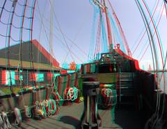De Halve Maen VOC-replica Hoorn 3D GoPro (wim hoppenbrouwers) Tags: maen vocreplica hoorn 3d gopro dehalvemaen ship boot boat anaglyph stereo redcyan batavia vov