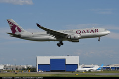 Qatar Airways A332 A7ACI (Sandsman83) Tags: montreal yul cyul airplane aircraft plane landing qatar airways airbus a330 a7aci