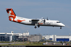 Air Inuit DH8C CGXAI (Sandsman83) Tags: montreal yul cyul airplane aircraft plane landing air inuit bombardier dash8 dhc8 cgxai