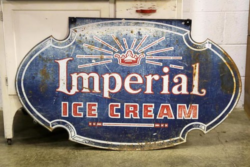 Imperial Ice Cream Sign ($168.00)