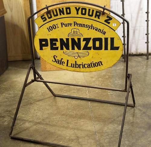 Pennzoil double sided with stand sign ($336.00)