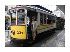 Porto (W Gaspar) Tags: santos brazil brasil southamerica latinamerica man bonde photoborder city transportation tram urban street fujifilm x10 finepix geotagged travel