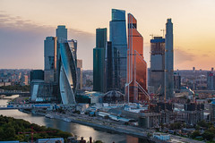 Moscow City (gubanov77) Tags: moscow russia moscowcity observationdeck moscowphotography moscowskyscrapers skyscrapers city cityscape urban mibc architecture building goldenhour