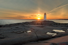 Peggys Point Lighthouse (Thank you for 2.9 Million views) Tags: cove ns nova scotia canada lighthouse sunset sunrise sun set rise puddle joeinpenticton joe jose garcia puddles fishing village east coast light house trail point post office contrail contrails lighthousetrail postoffice canadapostoffice lighthouseroute peggys route