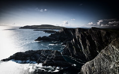 Kerry Cliffs I (-- Q --) Tags: countykerry kerrycliffs skelligislands puffinisland portmageevillage kerryhead leefilters qthompson longexposure marumidhgcpl republicofireland wildatlanticway atlanticocean atlanticcoast seascape cliffs rocks clouds evening atmosphere