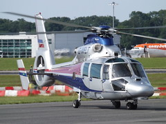 G-MFLT Eurocopter AS365N3 Dauphin Helicopter (Ven Air Ulc) (Aircaft @ Gloucestershire Airport By James) Tags: bristol airport gmflt eurocopter as365n3 dauphin helicopter ven air ulc eggd james lloyds