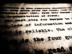 """Photo Series: Macro Highlighting: """"Reliable Information"""" (Ken Whytock) Tags: text information reliable macro words"""