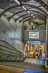 TXつくば駅で I (jun560) Tags: 東京 勝どき 勝鬨橋 築地大橋 hdr