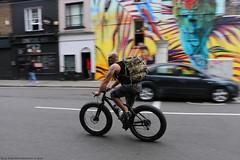 Fat-Bike (Rick & Bart) Tags: art london uk city urban camdentown rickvink rickbart canon eos70d everydaypeople people strangers candid streetphotography camdenmarket camdenlock bear bike fatbike bicycle transport guy man male