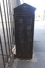 29th July 2019 (themostinept) Tags: home house chalk drawing graffiti fence box london camden bloomsbury wc1 tavistockplace