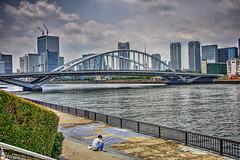 築地大橋 I (jun560) Tags: 東京 勝どき 勝鬨橋 築地大橋 hdr qqq