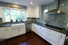 White Cabinets Kitchen Remodel with Grey Polished color Quartz countertop & neutral color backsplash tile in Trabuco Canyon https://www.aplushomeimprovements.com/portfolio_page/transitional_style_white_kitchen_remodel_in_trabuco_canyon_orange_county84/ (Aplus Interior Design & Remodeling) Tags: whitecabinets wood woodfloor woodfloors remodel remodeling renovation residentialremodel residence room reface