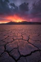 The War Path (Ryan Dyar) Tags: ryandyar lightning thunderstorm storm sunset nevada oregon playa desert