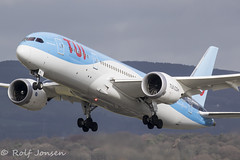 G-TUIE Boeing 787-8 TUI Glasgow airport EGPF 12.03-19 (rjonsen) Tags: plane airplane aircraft aviation airliner dreamliner takeoff departure flying