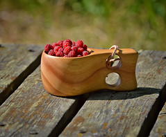 For my Flickr friends... (L.Lahtinen (nature photography)) Tags: finland summer kuksa raspberries delicious guksi sweet woodencup