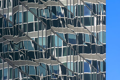 Facade with reflection (Jan van der Wolf) Tags: map19598v reflection spiegeling architecture architectuur amsterdam gevel gebouw building facade abstract