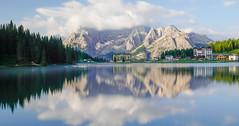 Lago di Misurina (Lux Aeterna - Eternal Light) Tags: dolomites landscape mountains reflection water lake
