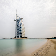 Burj Al Arab (Robgreen13) Tags: uae dubai jumeirahbeach burjalarab emirates landscape longexposure seascape urban beach