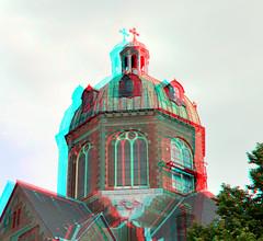 Koepelkerk Hoorn 3D (wim hoppenbrouwers) Tags: koepelkerk hoorn 3d anaglyph stereo redcyan
