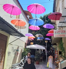 L O O K      🎨     a r o u n d (Ladyhelen_) Tags: colors city colorcity holidays words poem poetry verses citylover umbrella streetart walker view