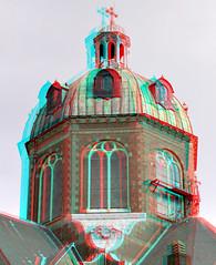 Koepelkerk Hoorn 3D (wim hoppenbrouwers) Tags: anaglyph stereo redcyan koepelkerk hoorn 3d