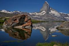 Stellisee (ivoräber) Tags: stellisee zermatt switzerland sony schweiz systemkamera swiss suisse matterhorn alps lake mountain