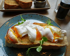 Poached Eggs at the Plau Bar Preston (Tony Worrall) Tags: images photos photograff things uk england food foodie grub eat eaten taste tasty cook cooked iatethis foodporn foodpictures picturesoffood dish dishes menu plate plated made ingrediants nice flavour foodophile x yummy make tasted meal nutritional freshtaste foodstuff cuisine nourishment nutriments provisions ration refreshment store sustenance fare foodstuffs meals snacks bites chow cookery diet eatable fodder ilobsterit instagram forsale sell buy cost stock plau pub bar inn pubfood eggs poachedeggs runny yolk