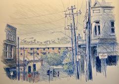 Close to home (Peter Rush - drawings) Tags: usksydney usk urbansketchers urbansketch australia newtown enmore sydney marrickville