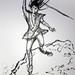 Sketch of Samurai with Sword 1