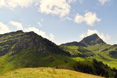 Bremacher Höchi 1641 m - Blick zum Speermürli (links) und zum Speer (rechts) (pe_ma) Tags: nesslau toggenburg hike hiking swiss mountains speer speermürli elisalp