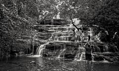 Waterfalls (Rajavelu1) Tags: waterfall longexposure blackandwhitephotography outdoorphotography dslr art creative tamilnadu india thisphotorocks artdigital