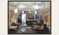 CAFETERIA-PINTURA-INTERIOR-DECORACION-MOBILIARIO-INTERIORES-CAFETERIAS-ESCENAS-CUADROS-ARTISTA-PINTOR-ERNEST DESCALS (Ernest Descals) Tags: cafeteria interior interiors interiores cafeterias cafeteries coffeshop personas gente people personajes personatges decoracion mobiliario especiales escenas escenarios luces luz puerta mesas intimidad pintura pinturas pintures cuadros quadres pintar pintant pintando painting paintings paint pictures composicion pintors pintores pintor art artwork arte plastica painter painters ernestdescals paisaje landscape cafe artistas plasticos vida life antiguas ancient