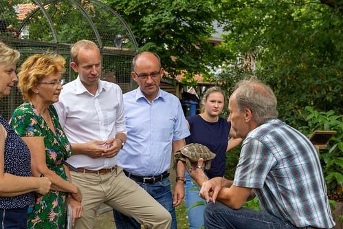 Besuch der Wildtierauffangstation Rastede mit Susanne Mittag MdB, Karin Logemann MdL und dem zukünftigen Rasteder Bürgermeister Lars Krause.