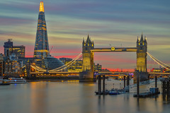 Casa / Home (Tower Bridge, Lodnon, United Kingdom) (AndreaPucci) Tags: towerbridge london uk andreapucci sunset thames night