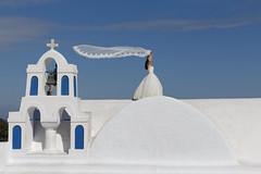 a bride walking towards heaven (alexandros9) Tags: santorini island oia agean cyclades greece 2016 bride elitegalleryaoi bestcapturesaoi aoi