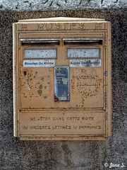 ... (Jean S..) Tags: post letter postman outdoors mail old wall