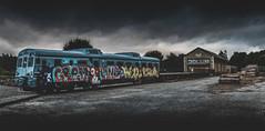Ponteulla (Noel F.) Tags: ponteulla estacion tren train graffiti galiza galicia sony a7riii a7r iii voigtlander 65 apo