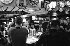Beer time... (John Konstandis) Tags: brussels blackandwhitephotography blackwhite streetphotography street monochrome people fujifilmx100f acros bar beer