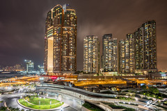 Exclusive Excluding Towers (TVZ Photography) Tags: hdr highdynamicrange westkowloon jordan tsimshatsui kowloon hongkong architecture towers city cityscape skyline night evening longexposure lowlight sonya7riii sony 1635mm sel1635gm