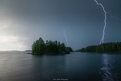 Storm Ahead! (laurilehtophotography) Tags: suomi finland jyväskylä leppälahti thunderstorm lightning storm rain dark sky island nature landscape nikon d750 tamron 2470mm longexposure amazing europe lake shore clouds moody