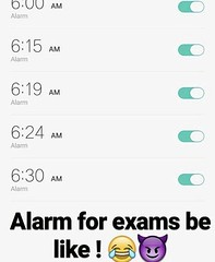 Alarm For Exams Be Like !! (gagbee18) Tags: alarm aww exams funny students
