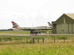 St Athan view. (aitch tee) Tags: aircraft saintathan southwales recycling airliner valeofglamorgan boeing scrapping britishairways b747400 stathan gbnln ecubesolutions