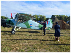 Fairchild 24/UC-61 (Aerofossile2012) Tags: fairchild24uc61 reenactors raf uniform uniforme reconstituants people meeting airshow melun villaroche airlegend 2018