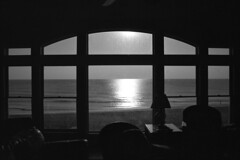 Room with a View - OBX (Pro400h) (Harald Philipp) Tags: outerbanks northcarolina nikon f6 usa film monochrome blackandwhite bw beach window roomwithaview