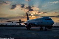 Eurowings Sunrise at HAJ 19072019 1 (U. Heinze) Tags: sunrise sonnenuntergang haj hannoverlangenhagenairporthaj aircraft airlines airways airplane sky himmel eddv